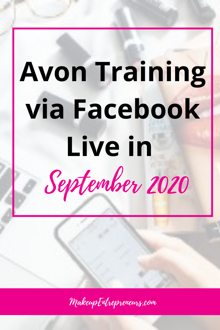 Avon Training Via Facebook Live in September 2020