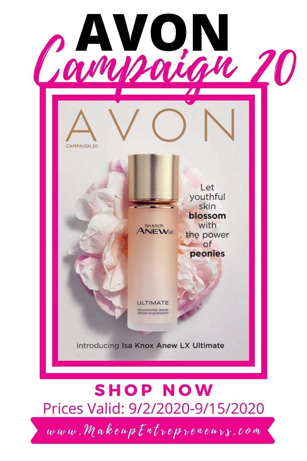 Avon Campaign 20 2020 Introduces the Anew Collection Isa Knox Ultimate LX